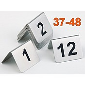 Table Numbers Nr. 37-48 STAINLESS STEEL - 12pcs.