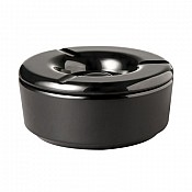 Wind Ashtray CASUAL Ø12cm/H4,5cm MELAMIN black - 1pc. 1