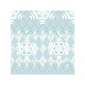 MONIK Xmas Napkins 33x33cm TISSUE bluegrey - 800pcs.