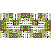 LOTTA X-Mas Table Runners 40cmx24lfm AIRLAID green/brown - 4pcs.