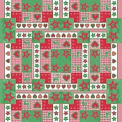 LOTTA Xmas Table Cloths 80x80cm 70g AIRLAID red/green - 50pcs. 1