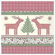 NOAH Xmas Napkins 40x40cm TISSUE red/green - 1200pcs.