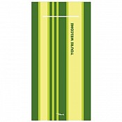 WELCOME Pocket Napkins 40x40cm 1/8fold AIRLAID green - 600pcs.