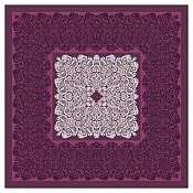 FIONA Table Cloths 80x80cm Linclass-AIRLAID aubergine - 50pcs.