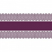 FIONA Table Runners 40cmx24m 70g AIRLAID plum - 4pcs.