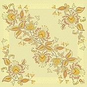 JASMIN Napkins 40x40cm 4-ply TISSUE DELUXE yellow - 600pcs.