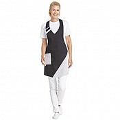 BIB APRON 2coloured PES/Cotton black/white - 1pc. 1