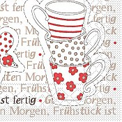 BREAKFAST Napkins 25x25cm TISSUE red - 1200pcs. 2