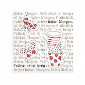 BREAKFAST Napkins 25x25cm TISSUE red - 1200pcs. 1