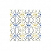 Napkins LUDO 24x24cm 1/4fold TISSUE blue/gold - 1200pcs. 1