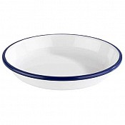 Soup Plate ENAMEL LOOK Ø19cm/height3cm MELAMIN white - 1pc. 1