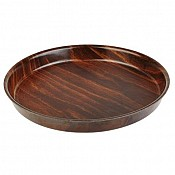 Tray round Ø32cm/height1,5cm Coated Wood - 1pc. 1