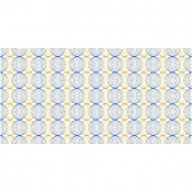 Table Runners LUDO 40cmx24meter LINCLASS blue/gold - 4pcs. 1
