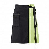 FRONT BINDER 2coloured 60x80cm PES/Cotton black/green - 1pc. 1