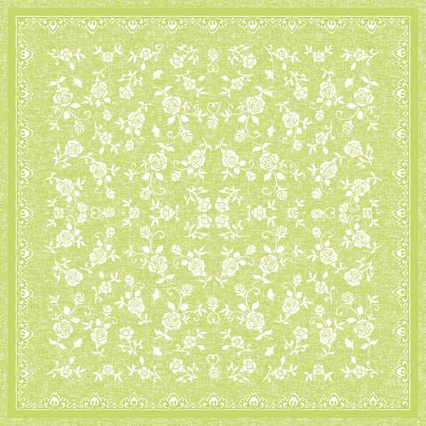 Table Cloths LACE 80x80cm LINCLASS-Airlaid lime - 60pcs.