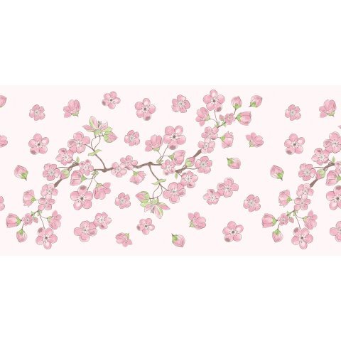 Table Runners ASIA 40cmx24lfm AIRLAID pink - 4pcs.