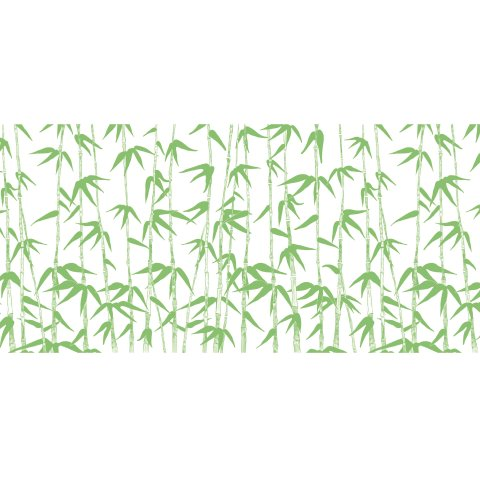 Table Runners GREEN BAMBOO 40cmx24lfm AIRLAID white/green - 4pcs