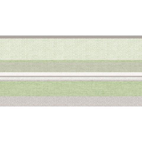 LAGOS Table Runners 40cmx24lfm Linclass grey/green - 4pcs.