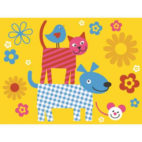 HAPPY KIDS PlaceMats 40x30cm LINCLASS-Airlaid colorful - 600pcs.