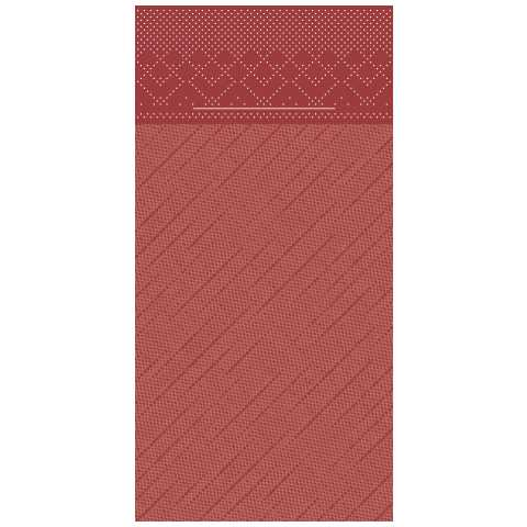 BASICS PocketNapkins 40x40cm 1/8fold DELUXE burgundy 300pcs.