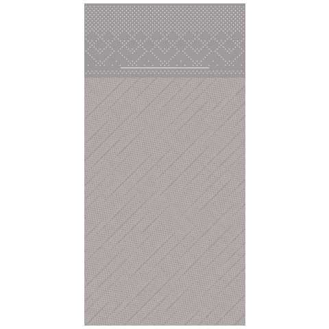 BASICS PocketNapkins 40x40cm 1/8fold DELUXE grey - 300pcs.