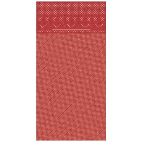 BASICS PocketNapkins 40x40cm 1/8fold DELUXE red - 300pcs.