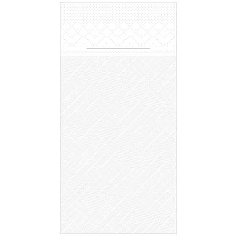 BASICS Pocket Napkins 40x40cm 1/8fold DELUXE white - 300pcs.
