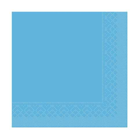 BASICS UNI Napkins AQUABLUE 33x33cm 1/4fold TISSUE - 600pcs.