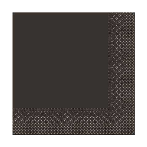 BASICS UNI Napkins BROWN 33x33cm 1/4fold TISSUE - 600pcs.
