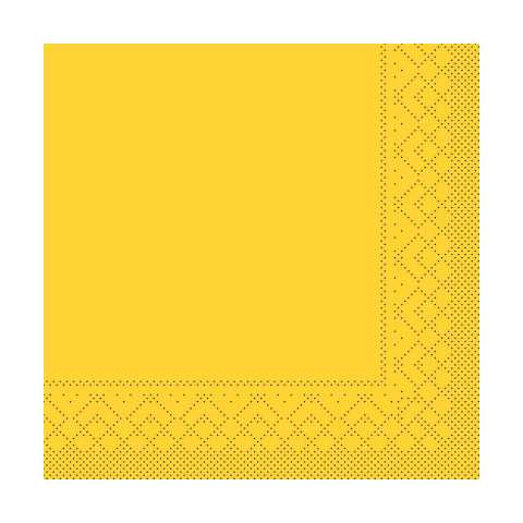 BASICS UNI Napkins YELLOW 33x33cm 1/4fold TISSUE - 600pcs.