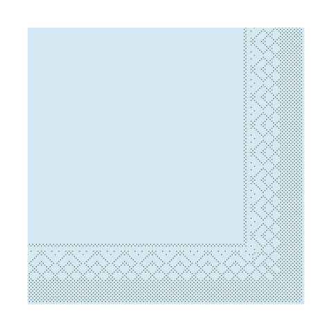 BASICS UNI Napkins LIGHT BLUE 33x33cm 1/4fold TISSUE - 600pcs.