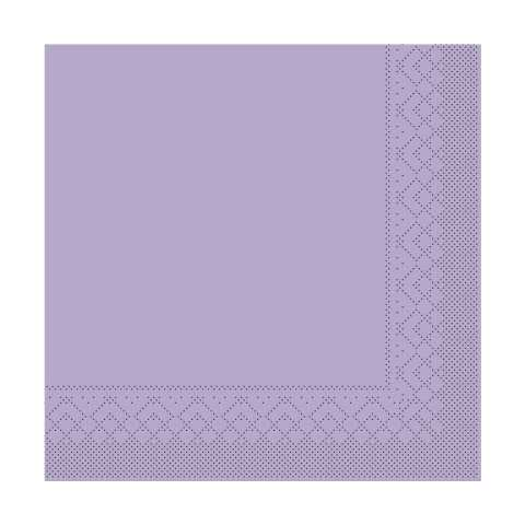 BASICS UNI Napkins PURPLE 33x33cm 1/4fold TISSUE - 600pcs.