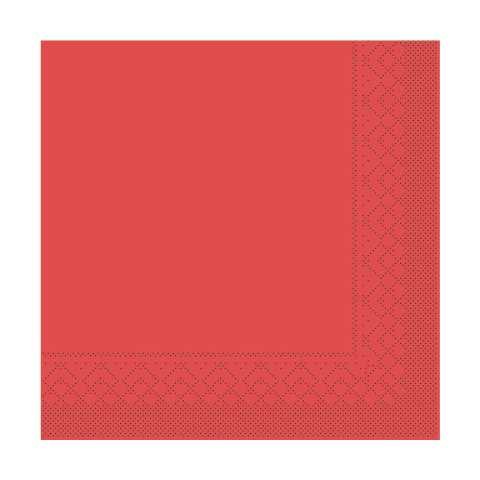 BASICS UNI Napkins RED 33x33cm 1/4fold TISSUE - 600pcs.