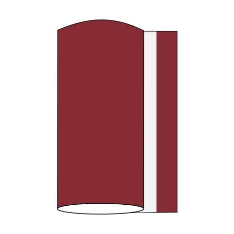 BASICS Table Runners BURGUNDY 20cmx20lfm LINCLASS uni - 4pcs.