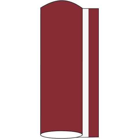 BASICS Table Runners BURGUNDY 40cmx24lfm LINCLASS uni - 4pcs.