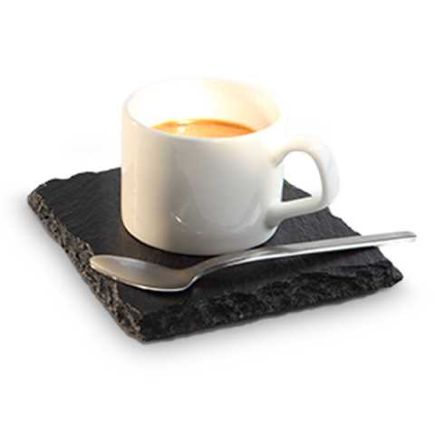 Natural Slate Tray 24x15cm/height9mm black - 4pcs.