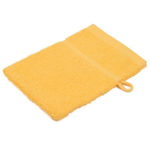 Wash Glove SYLT Towels 16x21cm COTTON gold - 12pcs.